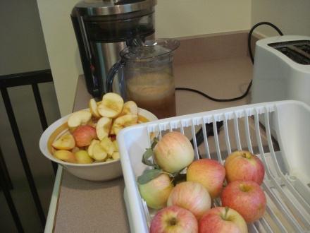 Drink fresh apple juice you'll never go back on the bottle.