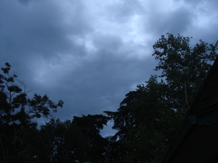 Troubled skies over Chico.