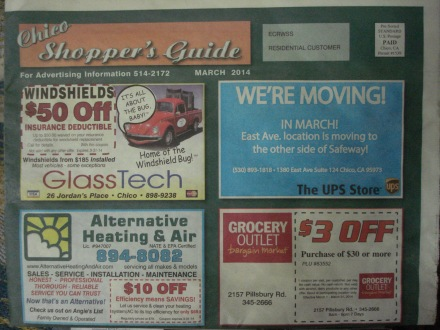 This is a weekly ad mailer is locally generated and just takes a phone call to get out of your mail box.