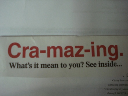 "I hand it to them for inventing the best word since ""craptastic""."