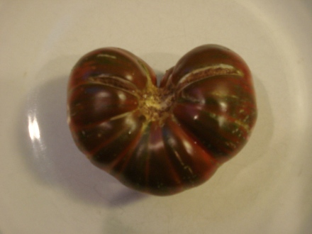 The striped tomatoes are always interesting shapes.
