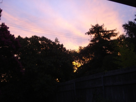 I know that if you were too busy to go outside and look up this morning, you missed this. I like to share.