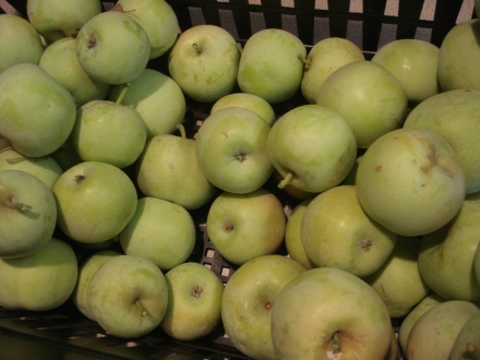 These are sweet little apples, just enough for a quick snack.