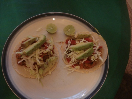 Add some green cabbage, some downtrodden avocados, a little lime, and you got Irish Mexican tacos.