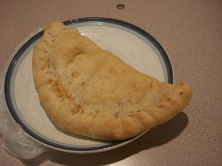 This calzone is for tonight.