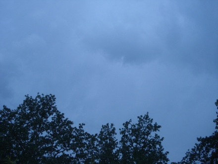 Suddenly the sky clouded over and started to look angry.