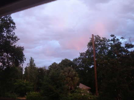 Lightening and thunder punctuated the afternoon, the sky lit up like one of those 1950's Hollywood biblical epics.