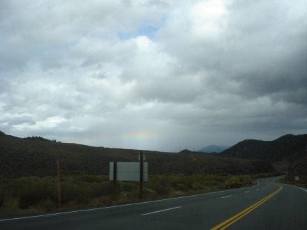 As the road wound into the Walker River Canyon near the Bodie turn-off, it seemed to disappear into the clouds.