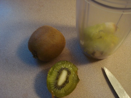 Hey, it's kiwi season. I got these at Safeway, they're delicious. But today my husband and I are going to head over to Glenn County, we'll keep an eye out for the farmers who sell them for a couple of bucks a bag along the road.