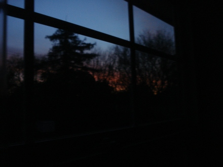 Peering out my kitchen window, I see red sky - what should I make of that?