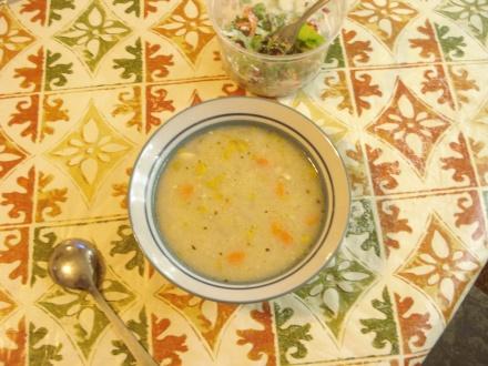 Soup and salad.