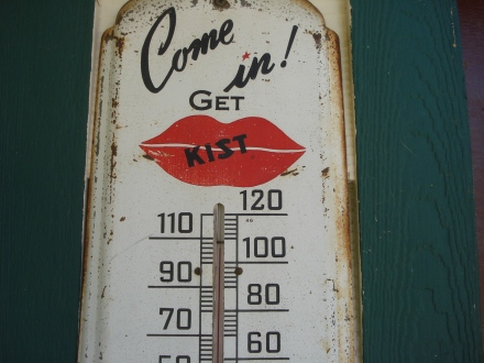 This thermometer sits on our eastern facing covered porch.