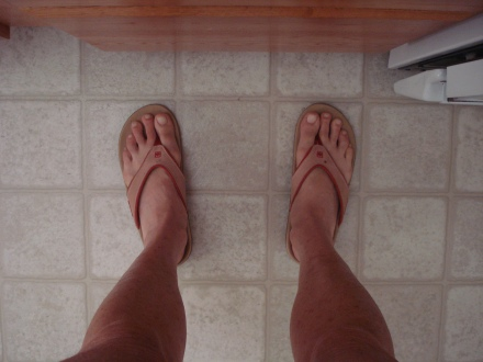 This is what my feet look like most of the day.
