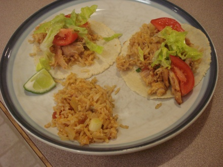 Tacos are an easy staple meal - even homemade tortillas.
